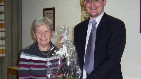 Jürgen Raab dankte Lidwina Werner für ihre langjährige Arbeit.