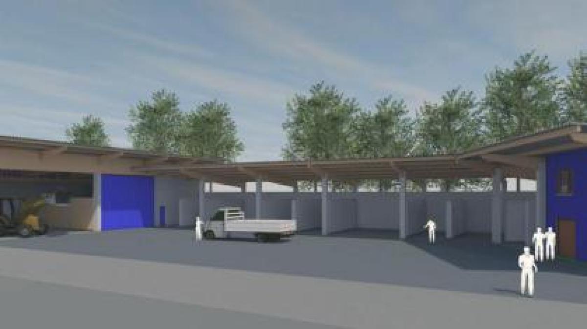 donauw rth hier entsteht der neue recyclinghof nachrichten donauw rth augsburger allgemeine. Black Bedroom Furniture Sets. Home Design Ideas