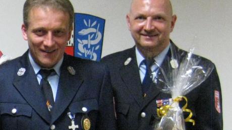 Jürgen Süss (rechts) geht, Armin Mayr ist neuer Kommandant.