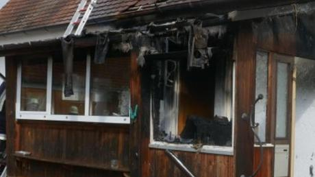 Hier ist der Brand an einem Wohnhaus in Auchsesheim entstanden.