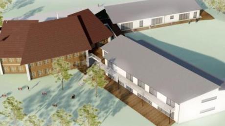 Der Kindergarten in Tapfheim wird erweitert.