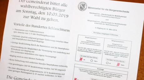 Dieses Flugblatt, das in Rögling verteilt wurde, sorgt laut Landratsamt dafür, dass die Bürgerentscheide vom 10. März ungültig sind.