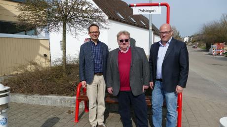 """Am """"Polsinger Bänkle"""" in Wemding: (von links) Martin Drexler, Heinz Meyer und Robert Steinberger."""