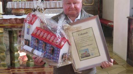 Gebhard Häckel war 36 Jahre lang Kirchenpfleger in Daiting. Nun verabschiedete er sich.
