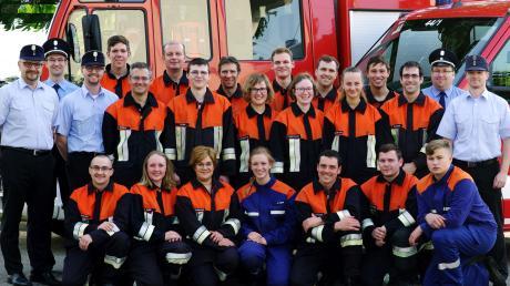 Feuerwehrleute aus Auchsesheim und Nordheim haben gemeinsam die Leistungsprüfung absolviert – und das mit Erfolg.
