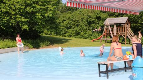 Der Kinderspielbereich des Freibads in Tagmersheim.