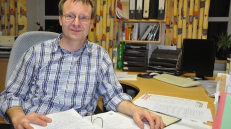 Werner Siebert, Bürgermeister von Fünfstetten, hört auf.