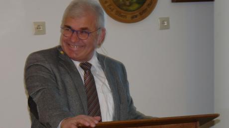 Gut gelaunt berichtete Oberndorfs Bürgermeister Hubert Eberle bei seiner letzten Bürgerversammlung vom aktuellen Stand in der Gemeinde.
