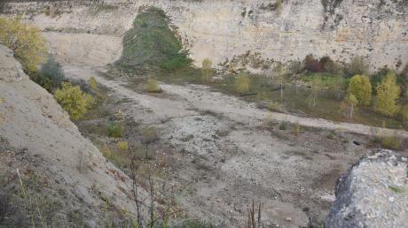 Der Steinbruch bei Heroldingen.