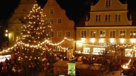 Der Weihnachtsmarkt in Wemding startet am Mittwoch.