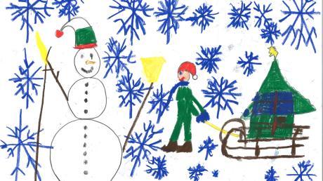 """""""Leise rieselt der Schnee"""" – Elias Hilgendorf, 7, aus Donauwörth singt dieses Lied gerne. Und dabei denkt er an einen Schneemann, Schlittenfahren, Nikolaus und irgendwie wohl auch an Geschenke."""