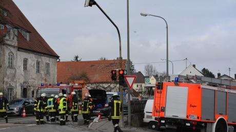 Am Dienstag ereignete sich in Donauwörth Berg gegen 11 Uhr ein Autounfall.