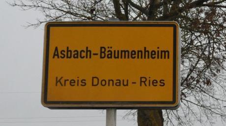 Ortsschild Asbach-Bäumenheim, Bäumenheim