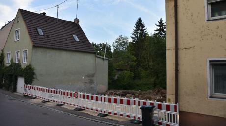 Auf der Baustelle für die Geopark-Infostelle in Harburg geht es voran.