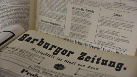 Die Komplettausgabe der Harburger Zeitung befindet sich jetzt im Stadtarchiv. Die 25 Bände spendierte ein Heimatforscher aus Gundelfingen.