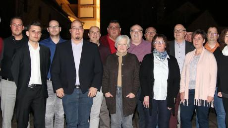 Das sind die Gemeinderatskandidaten der Freien Bürger/SPD Mertingen. Links im Bild ist Bürgermeisterkandidat Veit Meggle.