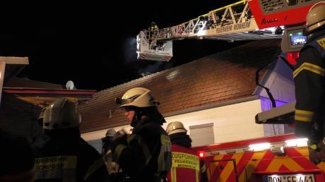 Brand eines Dachstuhls in Buchdorf.