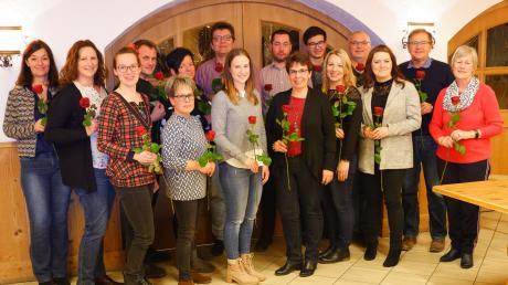Die Kandidaten der SPD für den Tapfheimer Gemeinderat mit der Ortsvereins-Vorsitzenden Gerda Jall-Struck (rechts).