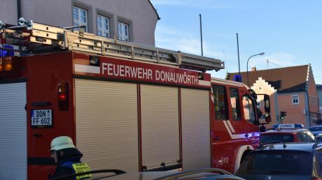 Inder Berger Vorstadt in Donauwörth hat ein Auto gebrannt.