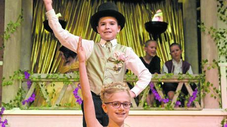 Der Faschingsclub Rain präsentierte unter anderem die kleinen Tollitäten, Prinzessin Selina I. und Prinz Ben I.