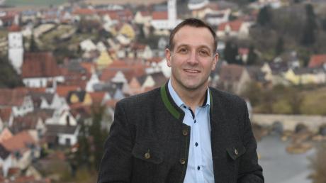 """Das Wort """"Machen"""" steht für Bernd Spielberger im Mittelpunkt. Er ist der Kandidat der CSU."""