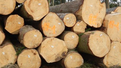 Unbekannte haben bei Otting und Wemding größere Mengen Fichtenholz gestohlen.