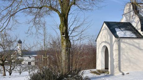 Im Umfeld der Kapelle östlich von Sulzdorf soll der Mobilfunkmast errichtet werden. Der Kaisheimer Gemeinderat sprach sich für den Bauantrag aus.