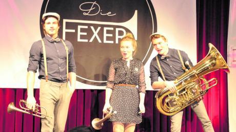 Ein eingeschworenes musikalisches Team: Alexander Schuhmann, Sophie Barth und Daniel Barth. Als Die Fexer mischten sie gemeinsam das Thaddäus auf. Das Trio gilt als die kleinste Blaskapelle der Welt.
