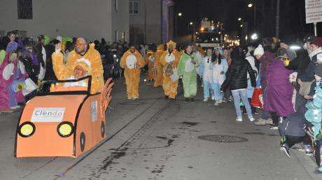 Der Nachtumzug in Bäumenheim verlief laut Polizei weitgehend friedlich.
