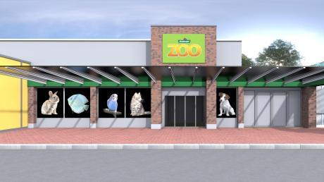 So wird die rundum erneuerte Abteilung für Tierbedarf der Firma Dehner in Rain aussehen. Am 1. April ist die Eröffnung.
