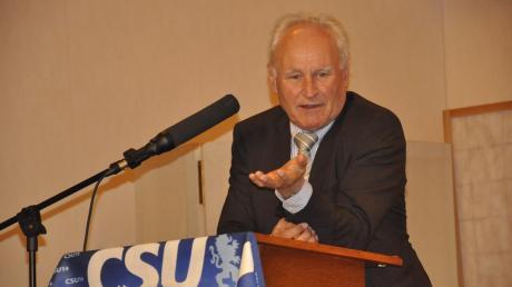 Erwin Huber war am Ascherdonnerstag Festredner in Mauren. Zuvor hatte er sich aber verfahren.