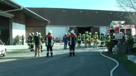 In Oberndorf ist eine Scheune in Brand geraten.