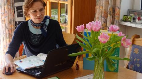 Ulrike Stöckl unterrichtet – wie alle Lehrer in Corona-Zeiten – von zu Hause aus.