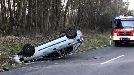 Das Auto des 35-jährigen Fahrers überschlug sich mehrmals.