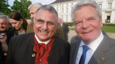 Robert Ruttmann bei seinem Besuch beim Bundespräsidenten Joachim Gauck am 23. Mai 2016.