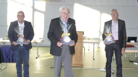 Langjährige Gemeinderäte: (von links) Michael Langlotz, Franz Eberle und Franz Kunz.