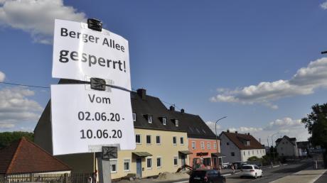 Bis zum Sommer soll die Baustelle in der Berger Vorstadt abgeschlossen sein. Wegen Arbeiten am Straßenbelag müssen die Verkehrsteilnehmer aber zuerst eine Vollsperrung in den Pfingstferien in Kauf nehmen. Auch der Busverkehr wird beeinträchtigt sein.