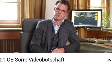 Die erste Videobotschaft des neuen OB Jürgen Sorré auf Youtube.