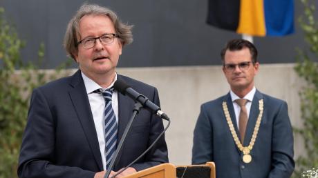 Alt-OB Armin Neudert (links) und sein Nachfolger Jürgen Sorre.