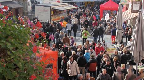 Der Herbstmarkt in Nördlingen findet dieses Jahr mit Corona-Auflagen statt.