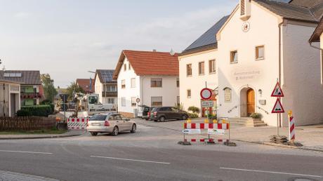 So sieht die Baustelle in der Döckinger Straße in Wolferstadt aus.