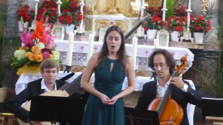 Die Sopranistin Maria Magdalena Frauscher wurde vom Trio Infiammabile begleitet.