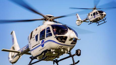 Diese Hubschrauber vom Typ H135 aus dem Airbus-Helicopters-Werk in Donauwörth sind auf dem Gelände der Nasa stationiert.