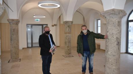 Weitgehend abgeschlossen sind die Arbeiten im Erdgeschoss des Strauß-Hauses in Kaisheim. Der Gewölbesaal in dem historischen Gebäude kann für öffentliche Veranstaltungen genutzt werden.
