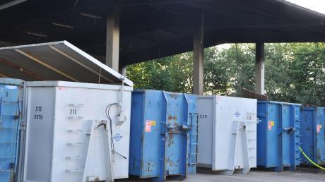 Der Recyclinghof des AWV am Glockenfeldweg.