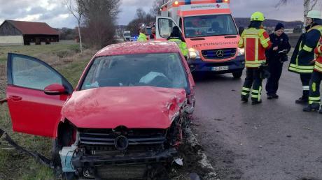 Auch bei diesem schweren Unfall eines Kameraden war die Freiwillige Feuerwehr Wemding im Jahr 2020 im Einsatz.
