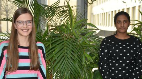Inspiriert von den Covid-19-Regeln erforschten Linn Motullo (links) und Laya Srinath die Kohlenstoffdioxid-Konzentration in Klassenzimmern.