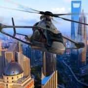 """Als Hochgeschwindigkeitshubschrauber soll der """"Racer"""" – so der Name des Forschungsprojekts – einmal mehr als 400 Stundenkilometer schnell sein. Einen Eindruck davon soll diese Animation von Airbus Helicopters vermitteln."""