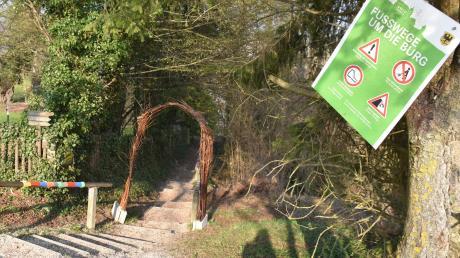 Die Wege rund um die Harburg sollen neu hergerichtet und besser ausgeschildert werden. Damit will die Stadt Harburg die besonderen Pfade für den Tourismus attraktiver gestalten.