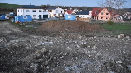 """Das neue Baugebiet """"Birket III West"""" in Wemding wird derzeit erschlossen. Die Nachfrage nach Bauland in der Stadt ist hoch."""
